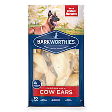 Barkworthies Cow Ears Dog Chew - Natural