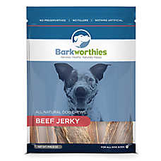 Barkworthies Beef Jerky Dog Chew - Natural
