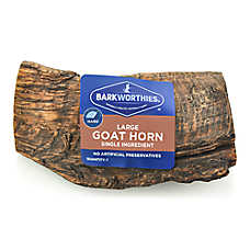 Barkworthies Goat Horn Dog Chew - Natural