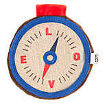 ED Ellen DeGeneres Camping Compass Flattie Dog Toy - Crinkle