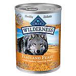 BLUE Wilderness® Flatland Feast Dog Food - Natural, Grain Free, Turkey, Quail & Duck