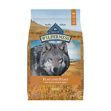 BLUE Wilderness® Flatland Feast Dog Food - Natural, Grain Free, Turkey, Quail & Duck