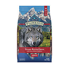 BLUE Wilderness® Snake River Grill Dog Food - Natural, Grain Free, Trout, Venison & Rabbit