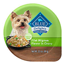 BLUE Divine Delights™ Small Breed Dog Food - Natural, Filet Mignon Flavor, In Gravy