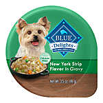 BLUE Divine Delights™ Small Breed Dog Food - Natural, New York Strip Flavor, In Gravy