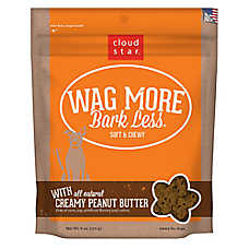 Cloud Star® Wag More Bark Less® Dog Treat - Natural, Peanut Butter