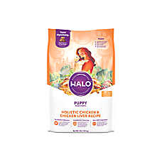 HALO® DreamCoat Puppy Food - Natural, Holistic Chicken & Chicken Liver Recipe