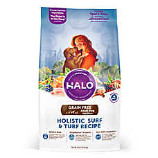 HALO® DreamCoat Adult Dog Food - Natural, Grain Free, Holistic Surf & Turf Recipe