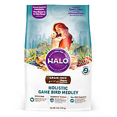 HALO® DreamCoat Puppy Food - Natural, Grain Free, Holistic Game Bird Medley