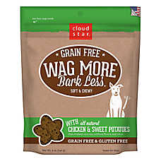 Cloud Star® Wag More Bark Less® Dog Treat - Natural, Grain & Gluten Free, Chicken & Sweet Potatoes