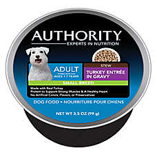 Authority® Small Breed Adult Dog Food - Turkey Stew