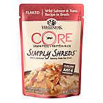 Wellness® CORE® Simply Shreds Cat Food - Natural, Grain Free, Wild Salmon & Tuna