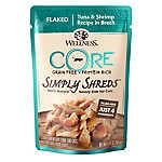 Wellness® CORE® Simply Shreds Cat Food - Natural, Grain Free, Tuna & Shrimp