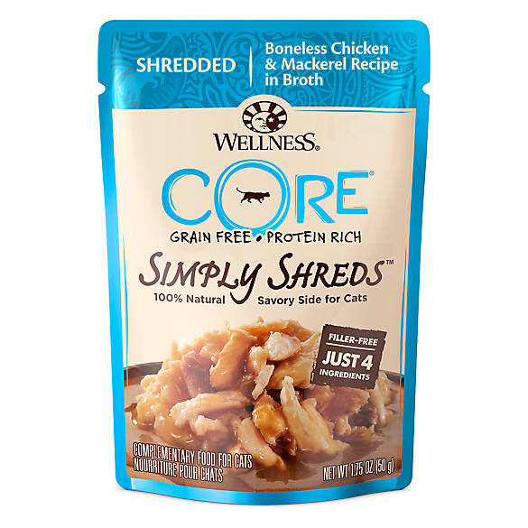 Wellness 174 Core 174 Simply Shreds Cat Food Natural Grain