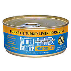 Natural Balance Limited Ingredient Diets Indoor Adult Cat Food - Grain Free, Turkey & Turkey Liver
