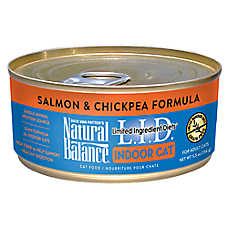 Natural Balance Limited Ingredient Diets Indoor Adult Cat Food - Grain Free, Salmon & Chickpea