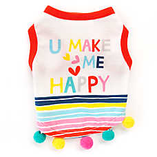 "Top Paw® ""U Make Me Happy"" Dog Tee"