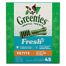 Greenies® Petite Dental Dog Treat - Fresh