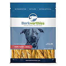 Barkworthies Tripe Twist Small Dog Chew - Natural