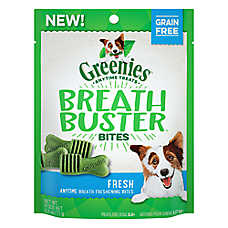 GREENIES® Breath Buster Bites Dental Dog Treat - Grain Free, Fresh