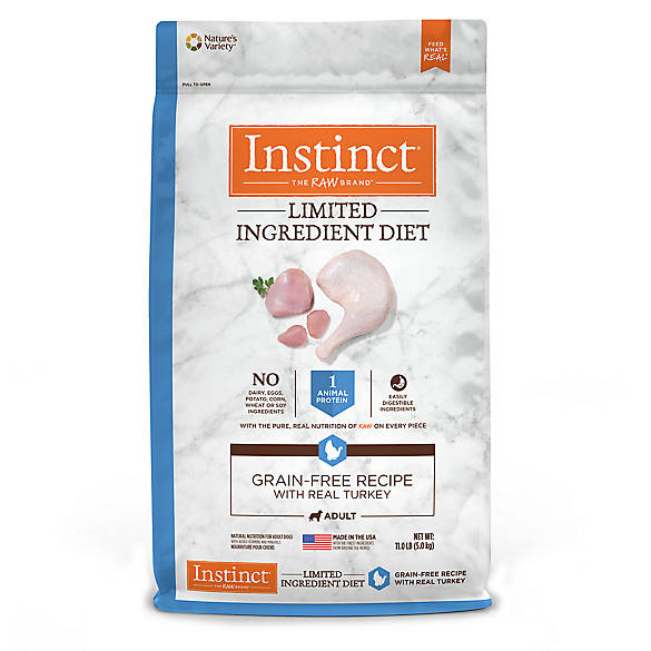 Nature's Variety® Instinct® Limited Ingredient Diet Adult Dog Food - Natural, Grain Free, Turkey ...
