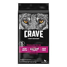 Crave Adult Dog Food - Grain Free, Lamb & Venison