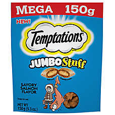 WHISKAS® TEMPTATIONS® Jumbo Stuff Cat Treat - Savory Salmon