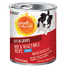 Good Natured™ Puppy Food - Natural, Beef & Vegetable, Cuts in Gravy