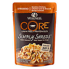 Wellness® CORE® Simply Shreds Dog Food Topper - Natural, Grain Free, Chicken, Chicken Liver