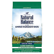 Natural Balance Limited Ingredient Diets High Protein Adult Dog Food - Natural, Lamb