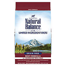 Natural Balance Limited Ingredient Diets High Protein Adult Dog Food - Natural, Beef