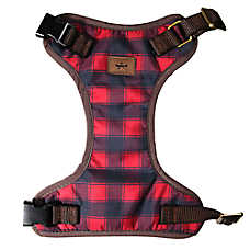 Beaver Canoe Checkered Dog Harness