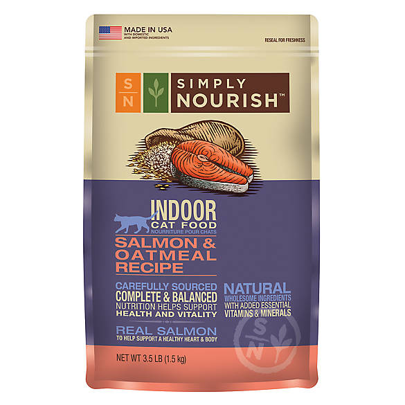 Simply Nourishtrade Indoor Cat Food Natural Salmon Oatmeal