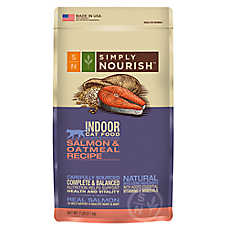Simply Nourish™ Indoor Cat Food - Natural, Salmon & Oatmeal