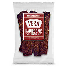 Vera Premium Nature Bars Adult Dog Treat - Non-GMO, Turkey & Oats