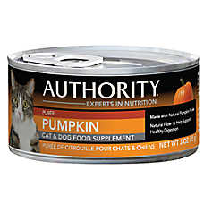Authority® Cat & Dog Food Supplement - Natural, Pumpkin