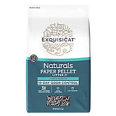 ExquisiCat® Naturals Paper Cat Litter - Natural, Multi-Cat, Lightly Scented