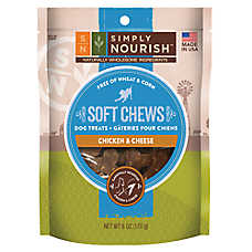 Simply Nourish™ Soft Chews Dog Treat - Natural, Chicken & Cheese