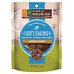 Simply Nourish™ Soft Chews Dog Treat - Natural, Chicken & Cheese