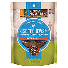 Simply Nourish™ Soft Chews Dog Treat - Natural, Bacon & Cheese