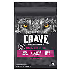 Crave Adult Dog Food - Grain Free, Lamb & Venison