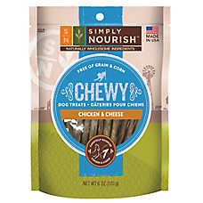 Simply Nourish™ Chewy Dog Treat - Natural, Chicken & Cheese
