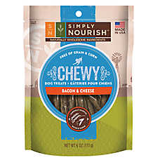 Simply Nourish™ Chewy Dog Treat - Natural, Bacon & Cheese