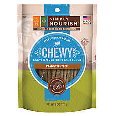 Simply Nourish™ Chewy Dog Treat - Natural, Peanut Butter