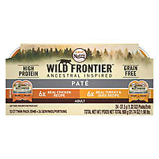 NUTRO™ Wild Frontier Adult Cat Food - Natural, Grain Free, Chicken & Turkey, Multi-Pack, 12ct