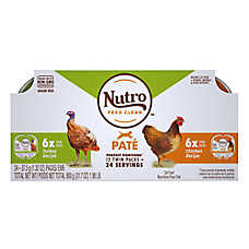 NUTRO™PERFECT PORTIONS™ Grain Free Adult Cat Food - Multi-Pack Chicken & Turkey Pate, 12