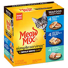 Meow Mix® Simple Servings Cat Food - Seafood Variety Pack, 12ct