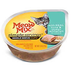 Meow Mix® Simple Servings Cat Food - Tuna & Fish, 2ct