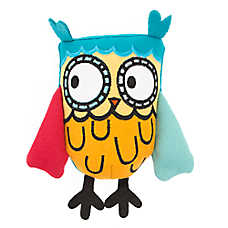 Top Paw® 2 Wild Owl Dog Toy - Plush, Squeaker