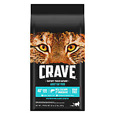 Crave Adult Cat Food - Grain Free, Salmon & Ocean Fish
